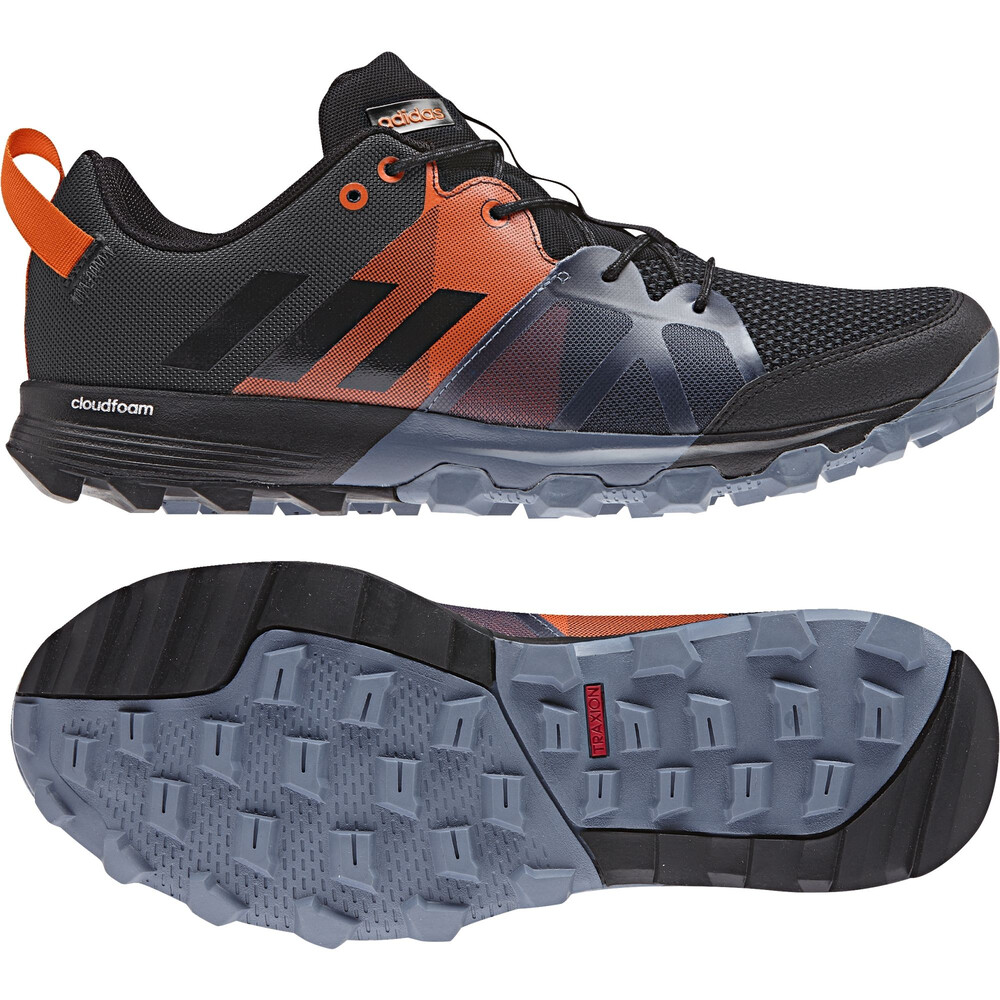 new product e7add a86aa adidas Kanadia 8.1 Trail - Chaussures running Homme - orange noir UK 8